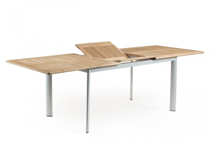 Стол раздвижной 304см серебро Lindos 14863-70