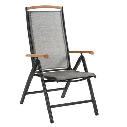 Креслo черный/серебро Andy 18470-8-70