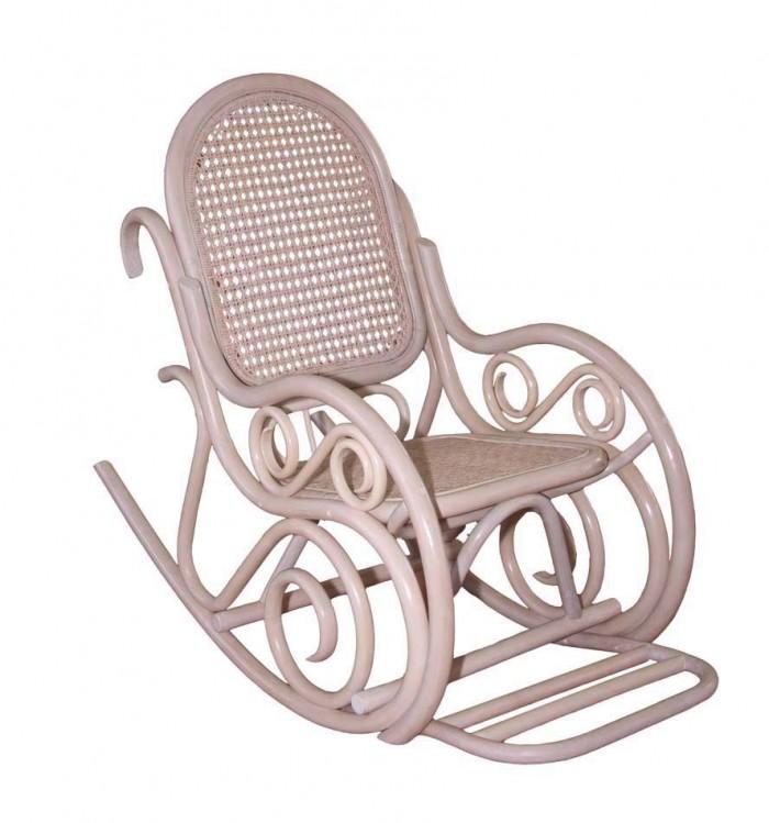 Кресло-качалка Династия кремовое Classic-white SPR.292.01.wwh