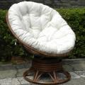 Кресло вращающееся Папасан Flores 1055-RLC - фото 1