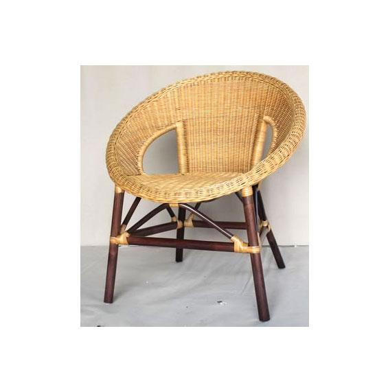 Кресло коричневое Ebony ER-115-1-2tb