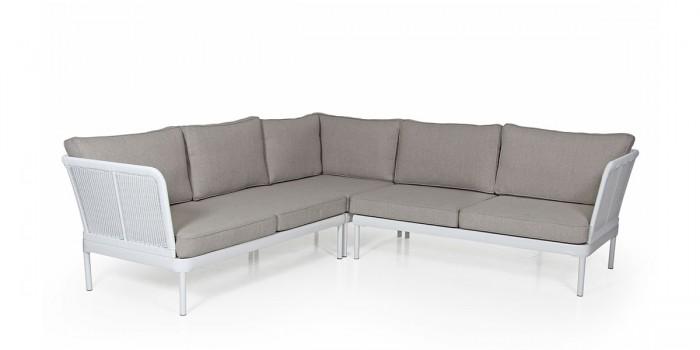 Угловой диван белый Ajaccio 4755HVH-50-5-22