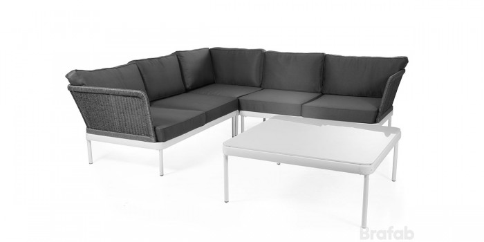 Угловой диван серый Ajaccio 4755HVH-50-7-7