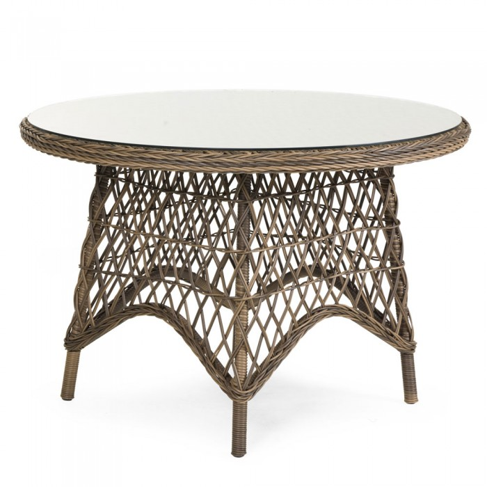 Стол обеденный коричневый 110см Beatrice 5694-60