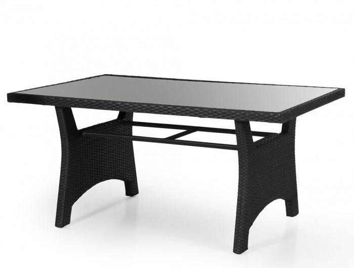 Стол обеденный черный 145см Callas 6606-8