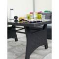 Стол обеденный черный 90см Callas 6607-8 - фото 1