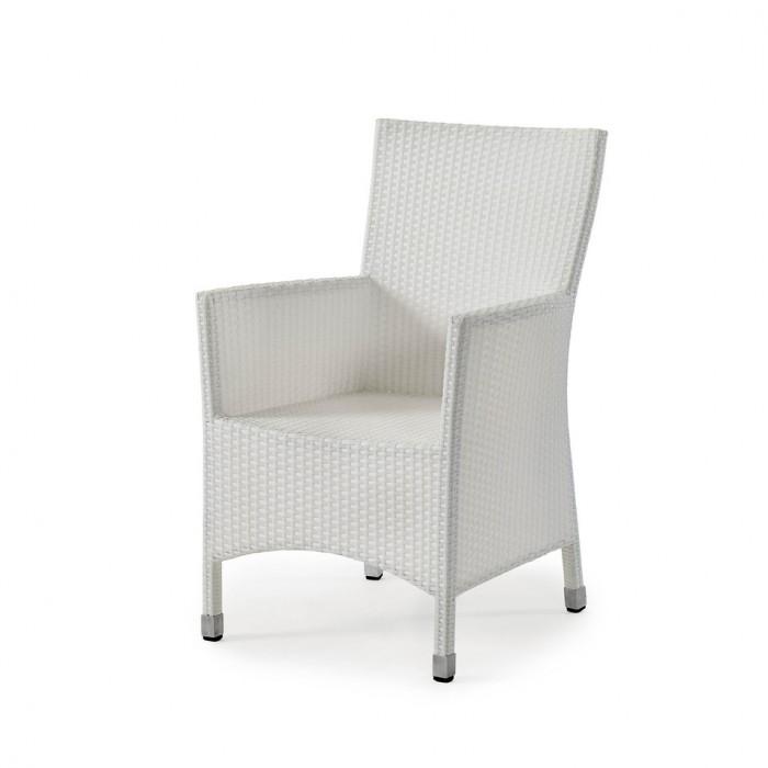 Кресло белое Cora 14400-5