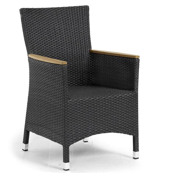 Кресло черное с тиком Cora 14400-8T