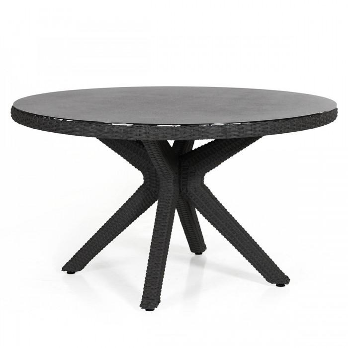 Стол обеденный черный 130см Cora 4404-8-8