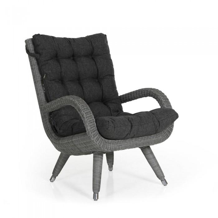 Кресло с подлокотниками серое Silva 5481-74-73