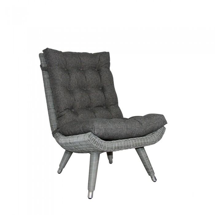 Кресло без подлокотников серое Silva 5483-74-73