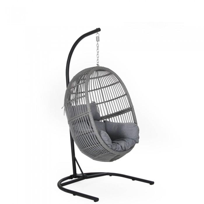 Кресло подвесное серое Vichy Swing 4789-7-71