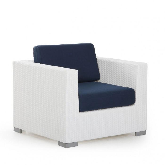 Кресло белое Sander 7020-5-1