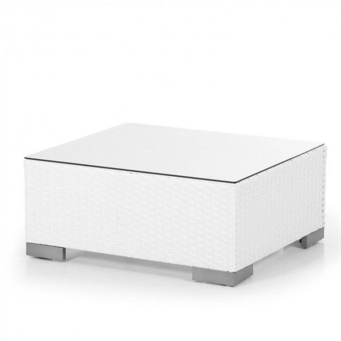 Столик-пуф белый Sander 7024-5-1