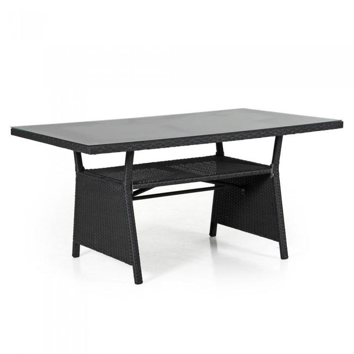 Стол обеденный черный 143 см Soho 2316S-8