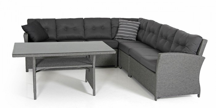 Комплект для отдыха-3 серый Soho