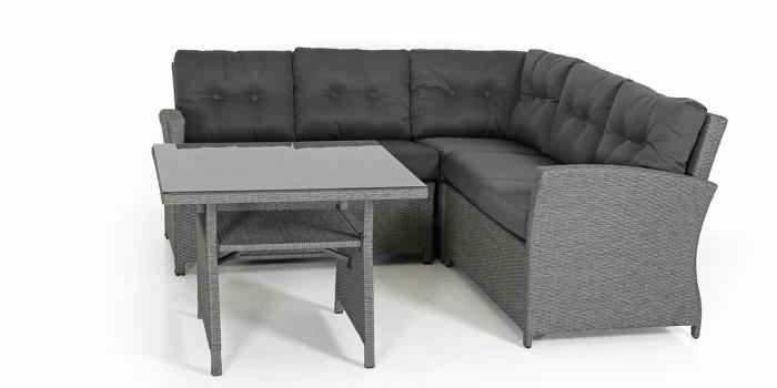 Комплект для отдыха-2 серый Soho
