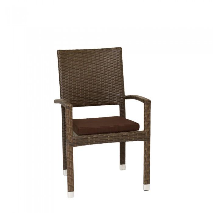 Кресло коричневое Klermon