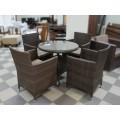 Стол обеденный коричневый 80см Verona  V003-80r - фото 2