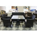 Стол обеденный черный 80см Verona2  V006-80r - фото 3